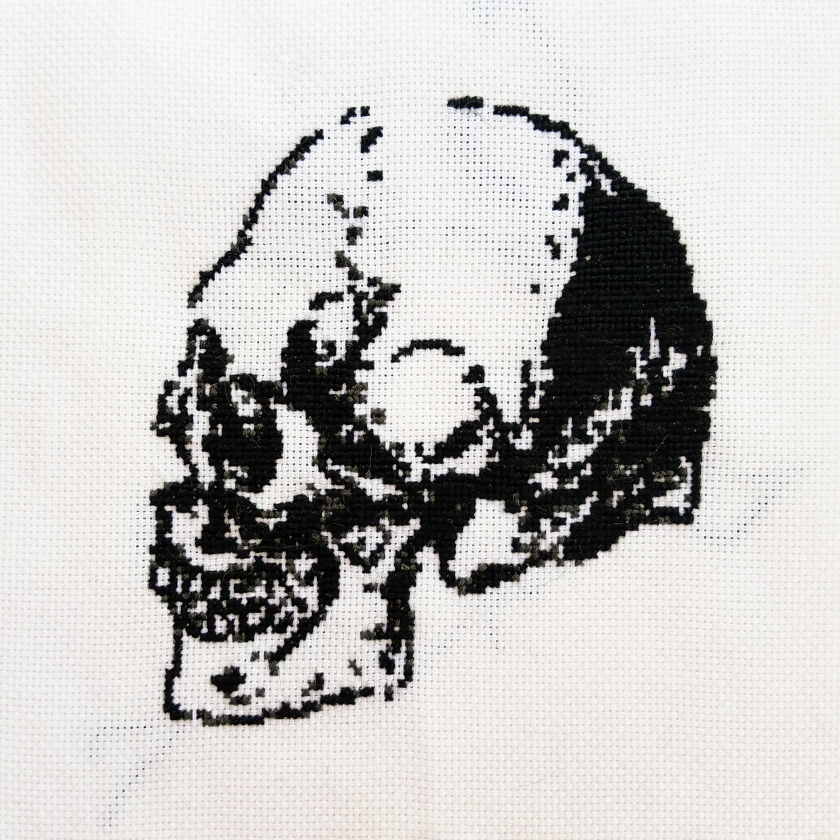 Cross Stitch Skull